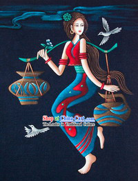 Batik Hanging-Chinese Beauty 3