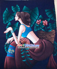 Batik Hanging-Chinese Beauty 2