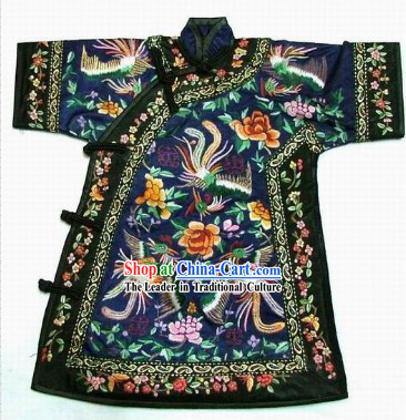 100_ Hand Made Embroidery Phoenix Chinese Empress's Robe