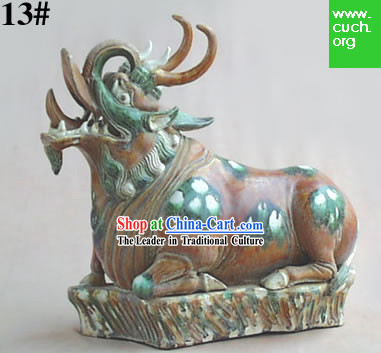 Chinese Classic Archaized Tang San Cai Statue-Immortal Beast