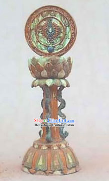 Chinese Classic Archaized Tang San Cai Statue-Eight Treasures