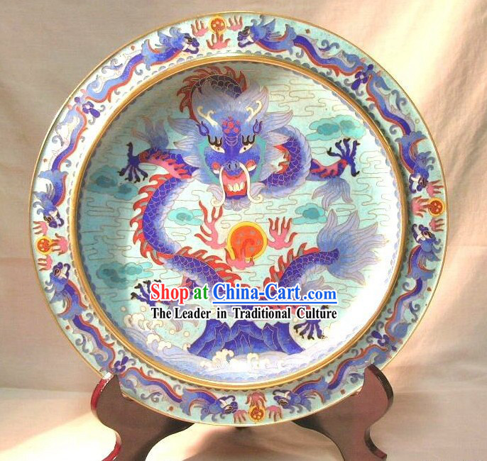 Chinese Classic Cloisonne Craft-Dragon King in the Cloud