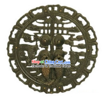 Chinese Palace Style Classic Archaized Door Lock-Carp Jumping the Dragon Door