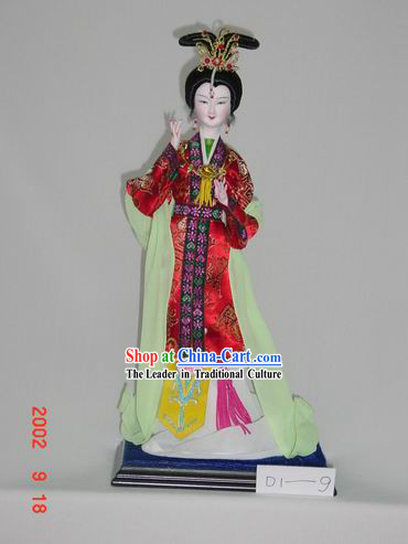 Handmade Peking Silk Figurine Doll - Palace Beautiful Empress