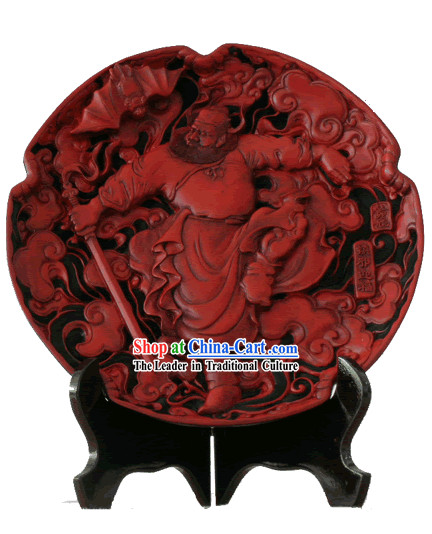 Chinese Palace Lacquer Works-Zhong Kui Conquering Evil