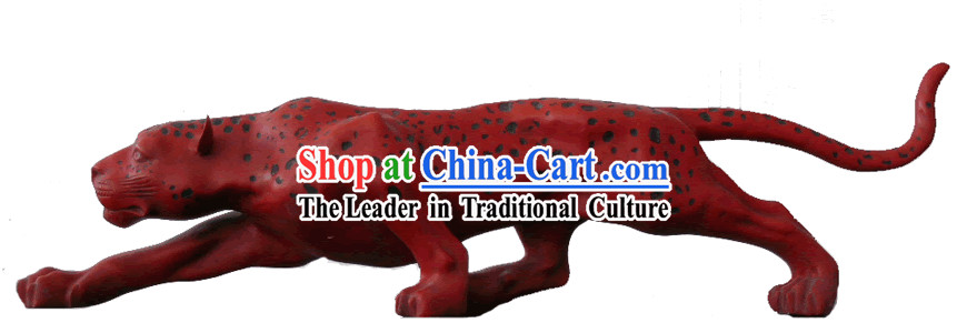 Chinese Ancient Palace Lacquer Craft-Leopard
