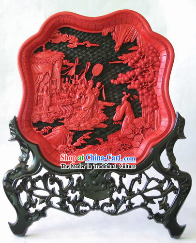 Traditional Lacquer Craft-Fairytales Love Plate