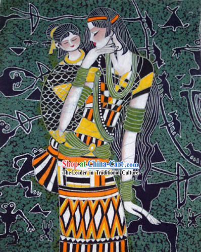 Chinese Batik Hanging-Mother Love