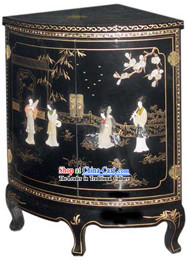 Chinese Palace Lacquer Ware Cabinet-Ancient Four Beauties