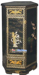 Chinese Palace Lacquer Ware Telephone Cabinet
