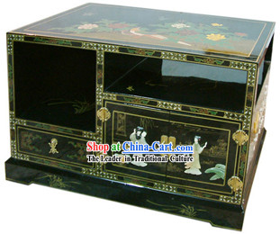 Chinese Palace Lacquer Ware TV Cabinet