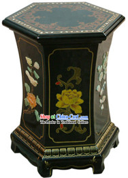 Chinese Palace Lacquer Ware Mound Sits