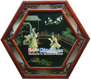 Chinese Palace Hanging Lacquer Ware Mirror Series-Palace Beauties