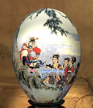 Chinese Wonders Hand Painted Colorful Egg-Monkey King Knowing the Truth of West Journey
