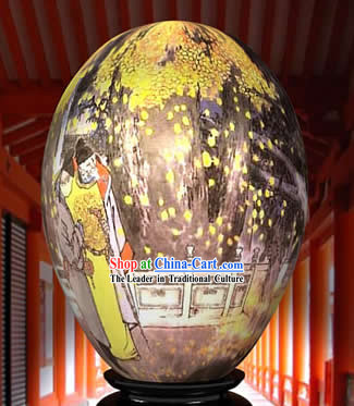 Chinese Wonder Hand Painted Colorful Egg-Chrysanthemum Emperor Painting