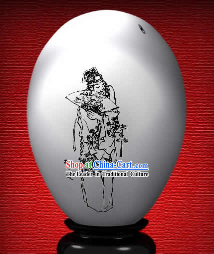 Chinese Wonder Hand Painted Colorful Egg-Jia Lian of The Dream of Red Chamber