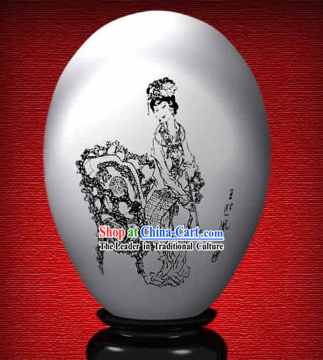 Chinese Wonder Hand Painted Colorful Egg-Wang Xifeng of The Dream of Red Chamber