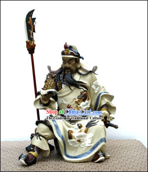 Hand Made Shi Wan Artistic Ceramics-Ancient Hero Wu Yunzhi