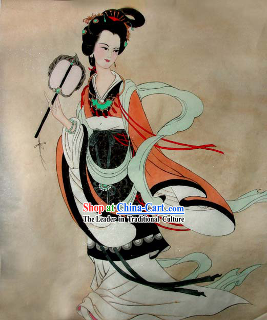 Chinese Traditional Painting-Tang Dynasty Woman King Wu Zetian