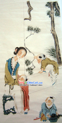 Chinese Traditional Painting-Mother Love