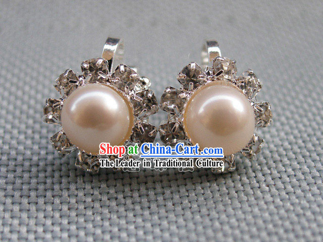 Stunning Natural White Pearl Earrings