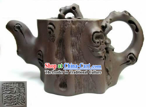 Hand Made and Carved Classic Stub Zisha Teapot