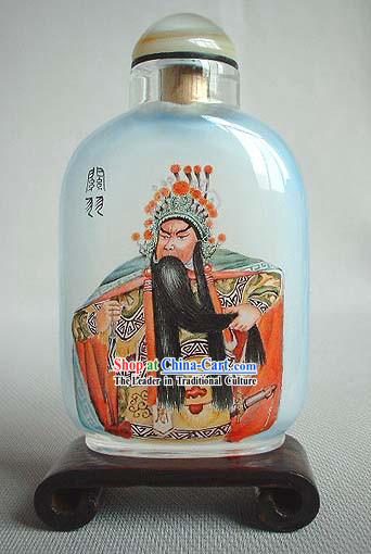 Snuff Bottles With Inside Painting Peking Opera Series-Guan Yu