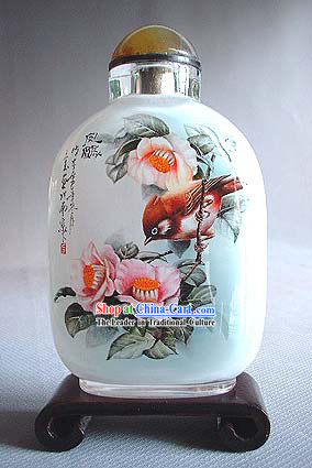 Snuff Bottles With Inside Painting Birds Series-Beautiful Bird