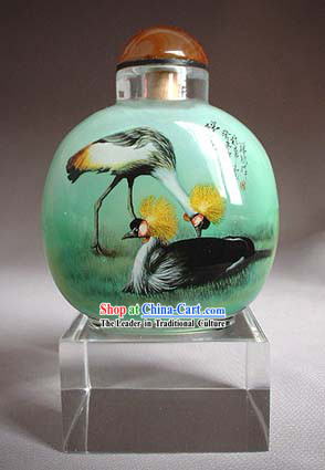 Snuff Bottles With Inside Painting Birds Series-Bird King and Queen