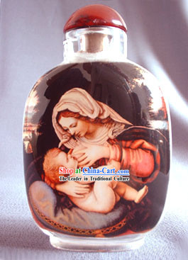 Snuff Bottles With Inside Painting Religion Series-Jesus and Virgin Mary
