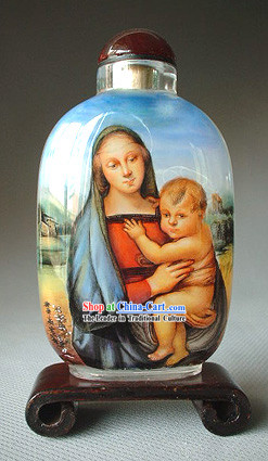 Snuff Bottles With Inside Painting Religion Series-Jesus Childhood