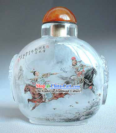Snuff Bottles With Inside Painting Characters Series-Fighting Generals