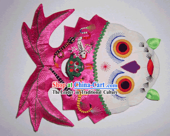 China Hand Made Cloth Craft-Lotus and Fishes Pillow