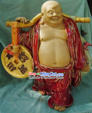 Chinese Porcelain Figurine from Shi Wan-Money Monk