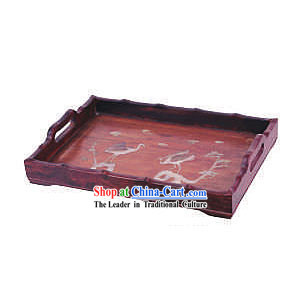 Chinese Classic Palace Tea Tray-Healthy Cranes