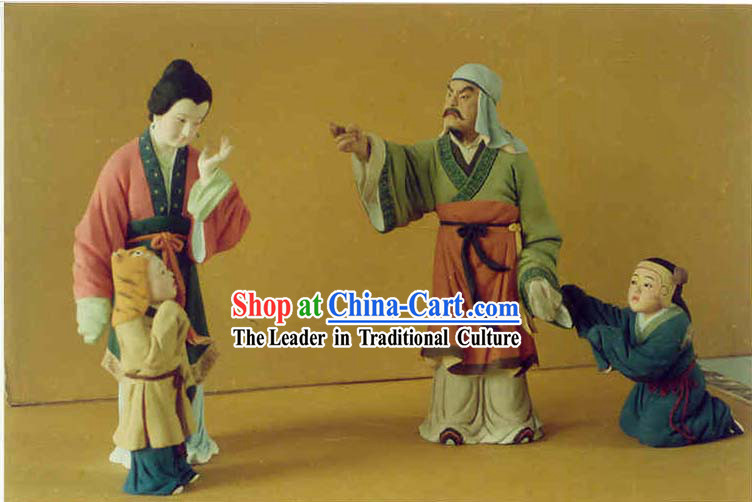 Hand Painted Sculpture Arts of Clay Figurine Zhang-lash Luhua