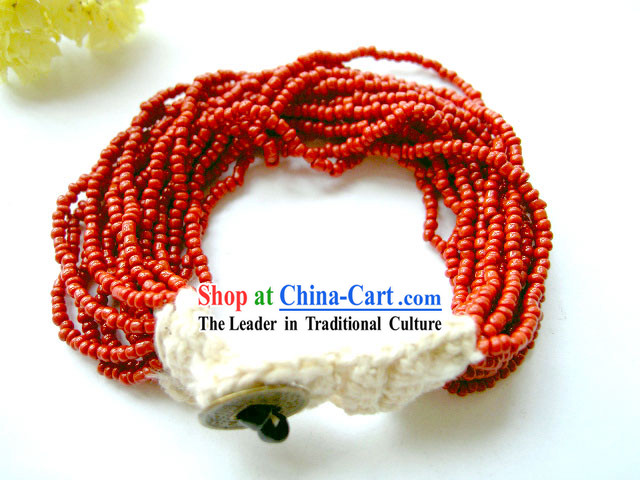 Mysterious Tibet Lucky Red Coral Bracelet