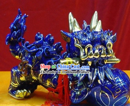 Chinese Stunning Blue Lion King