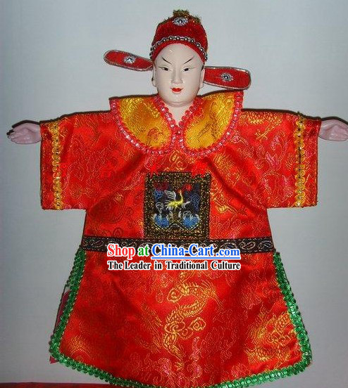 Chinese Classic Hand Puppet-Handsome Bridegroom in Traditional Wedding Costumes