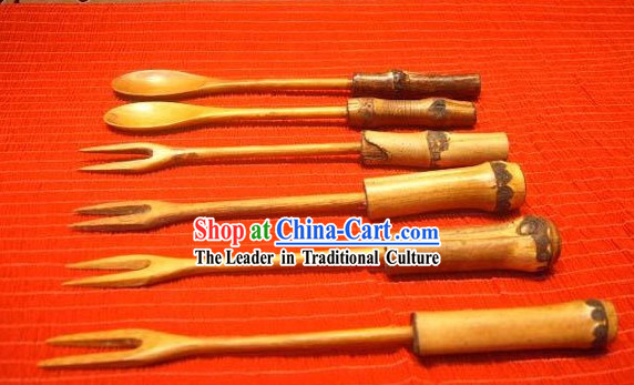 Chinese Hand Made Bamboo Fork