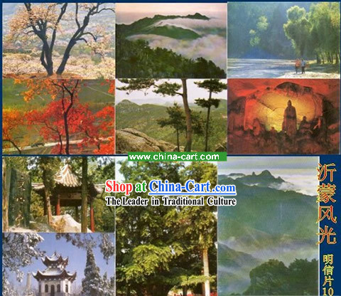 China Classic Yi Meng Scene Postcards Set _10 Pieces_