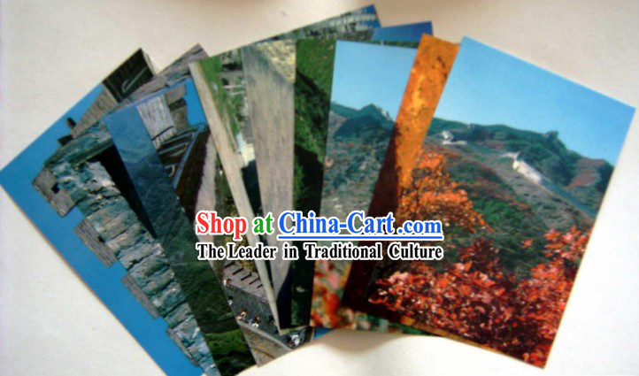 China Classic Great Wall Scene Postcards Set _10 Pieces_