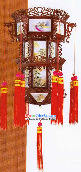 Hand Made Large Chinese Three Layers Dragon Palace Ceiling Lantern