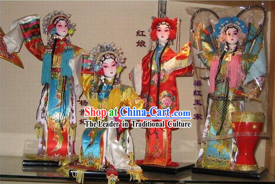 Chinese Classic Silk Figurines_Statues Opera Beauties Collection 24 Pieces Set