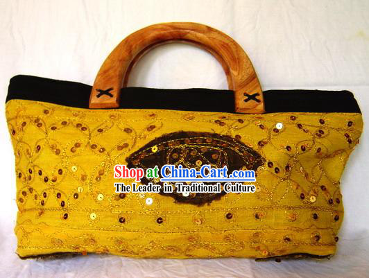 Indian Stunning Beautiful Hand Embroidered Long Handbag