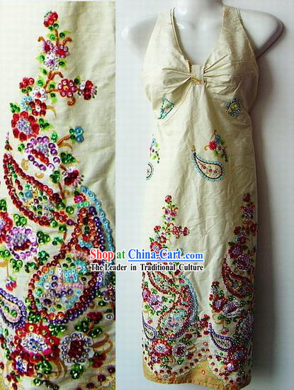 Indian Super Beautiful Hand Embroidered Long Skirt