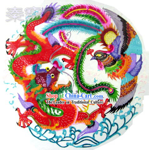 Chinese Paper Cuts-Dragon Flies, Phoenix Dances