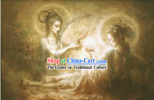 Rare Chinese Handicraft Embroidery Artwork-Ancient Fairy