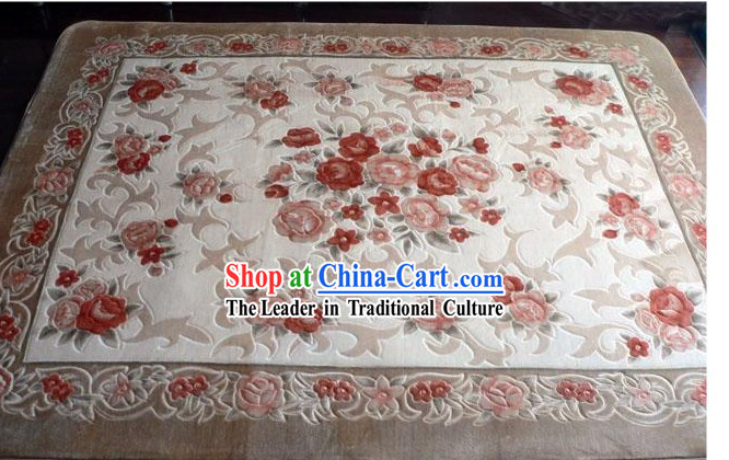 Art Decoration Chinese Classical Flowery Rug (185*185cm)