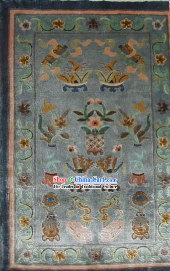 Art Decoration Chinese Hand Made Thick Natural Silk Rug(60*80cm)